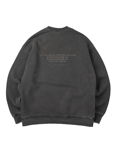 ANOTHER GAP PIGMENT CREWNECK (CHARCOAL)