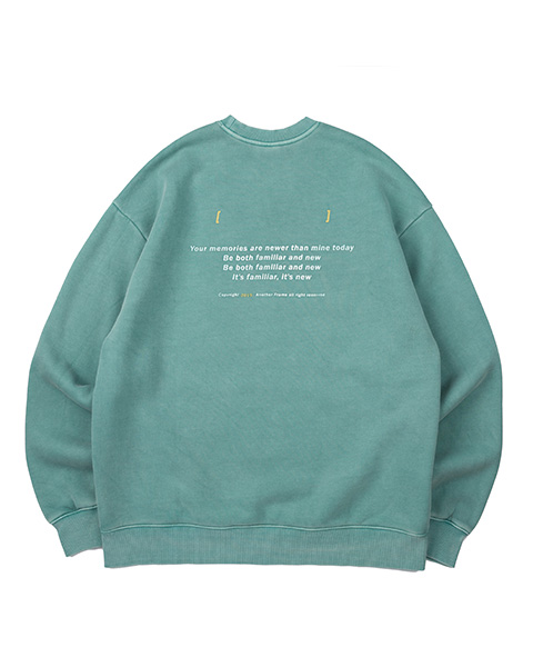 ANOTHER GAP PIGMENT CREWNECK (GREEN)
