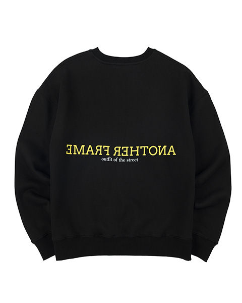 CLOUDY COLOR CREWNECK (BLACK)
