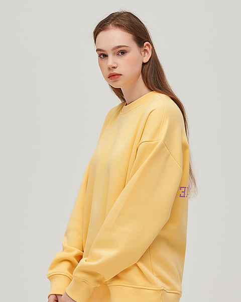 CLOUDY COLOR CREWNECK (LEMON)