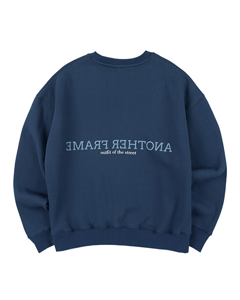 CLOUDY COLOR CREWNECK (NAVY)