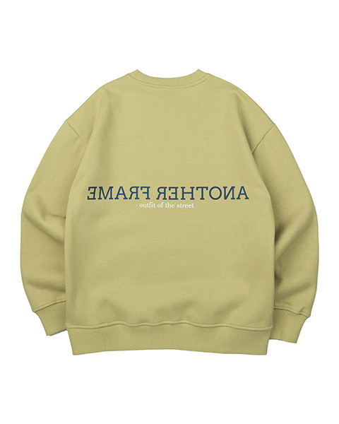 CLOUDY COLOR CREWNECK (OLIVE GREEN)
