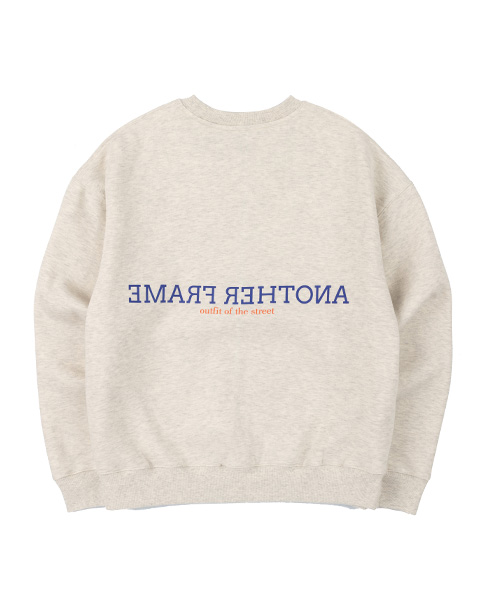 CLOUDY COLOR CREWNECK (OATMEAL)