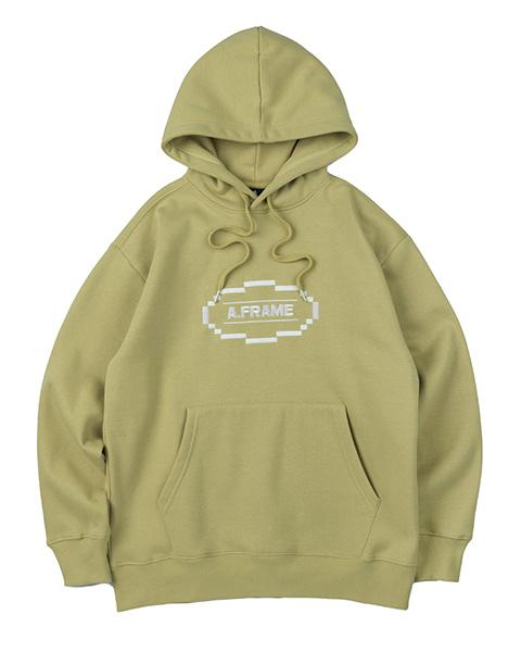 CIRCLE GRAPHIC HOODIE (OLIVE GREEN)