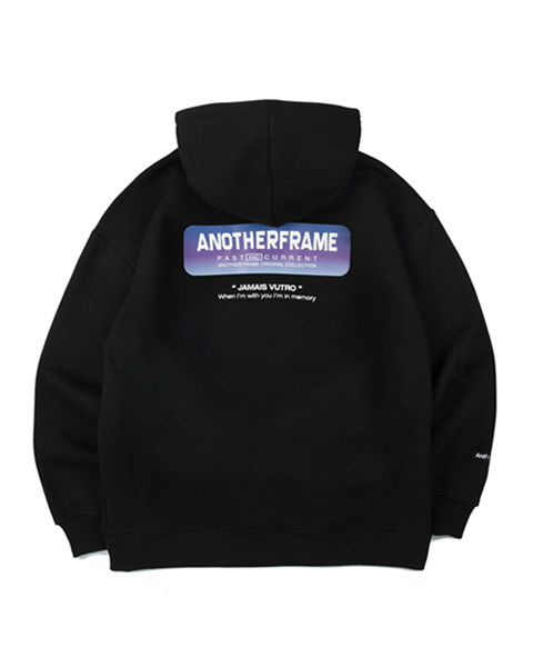 AF GRADATION BOX HALF HOOD ZIP-UP (BLACK)