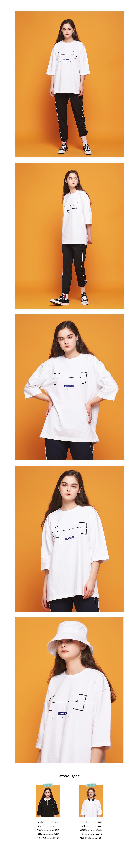 어나더프레임(ANOTHER FRAME) A 바코드 7부 티셔츠 (화이트)
