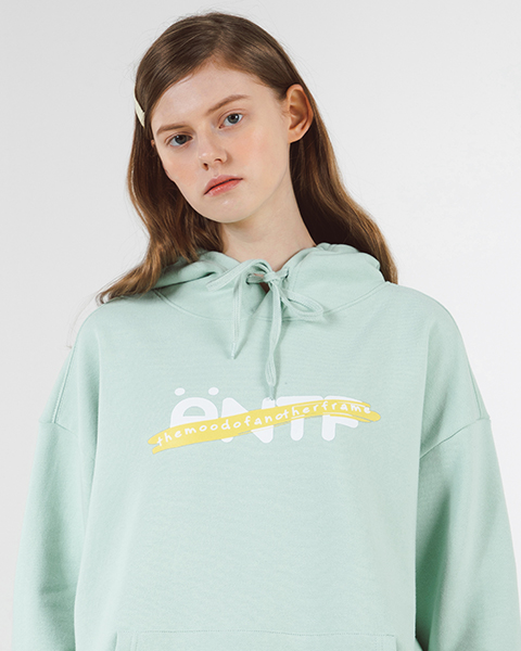 [쭈리]ANTF COLOR TAPE HOODIE (MINT)