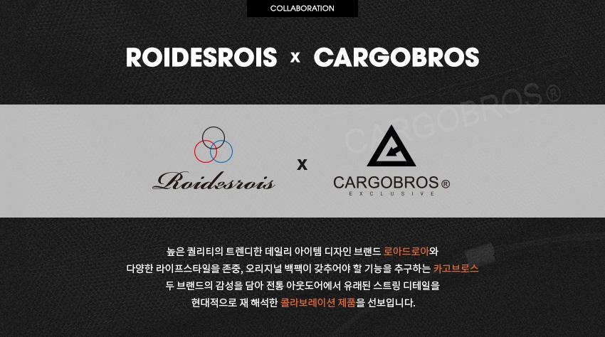 로아드로아(ROIDESROIS) [로아드로아X카고브로스] RDR 솔리드 로고 백팩 (블랙)