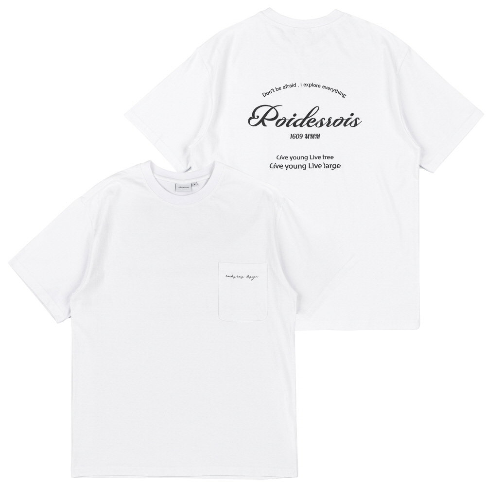 LIVE YOUNG POCKET TEE (WHITE/BK)