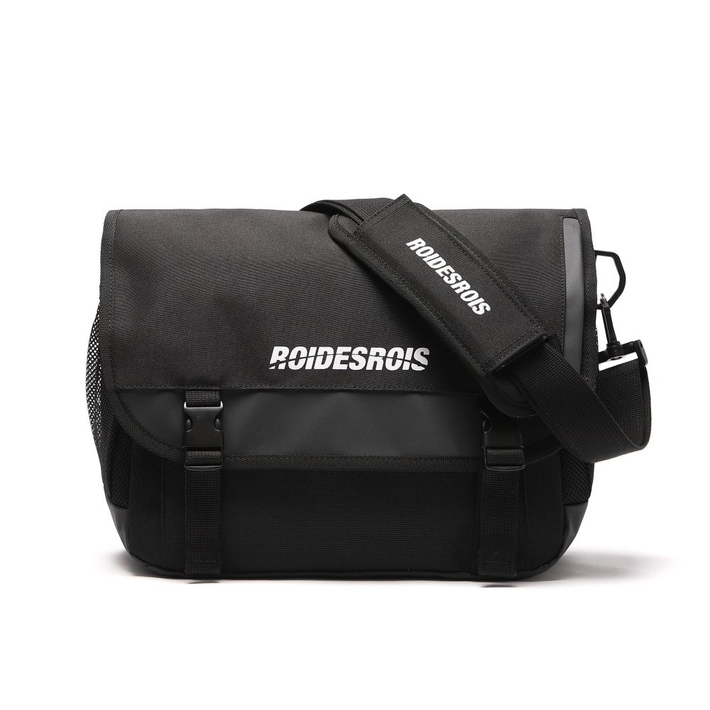 SIGNATURE LOGO MESSENGER BAG (BLACK)