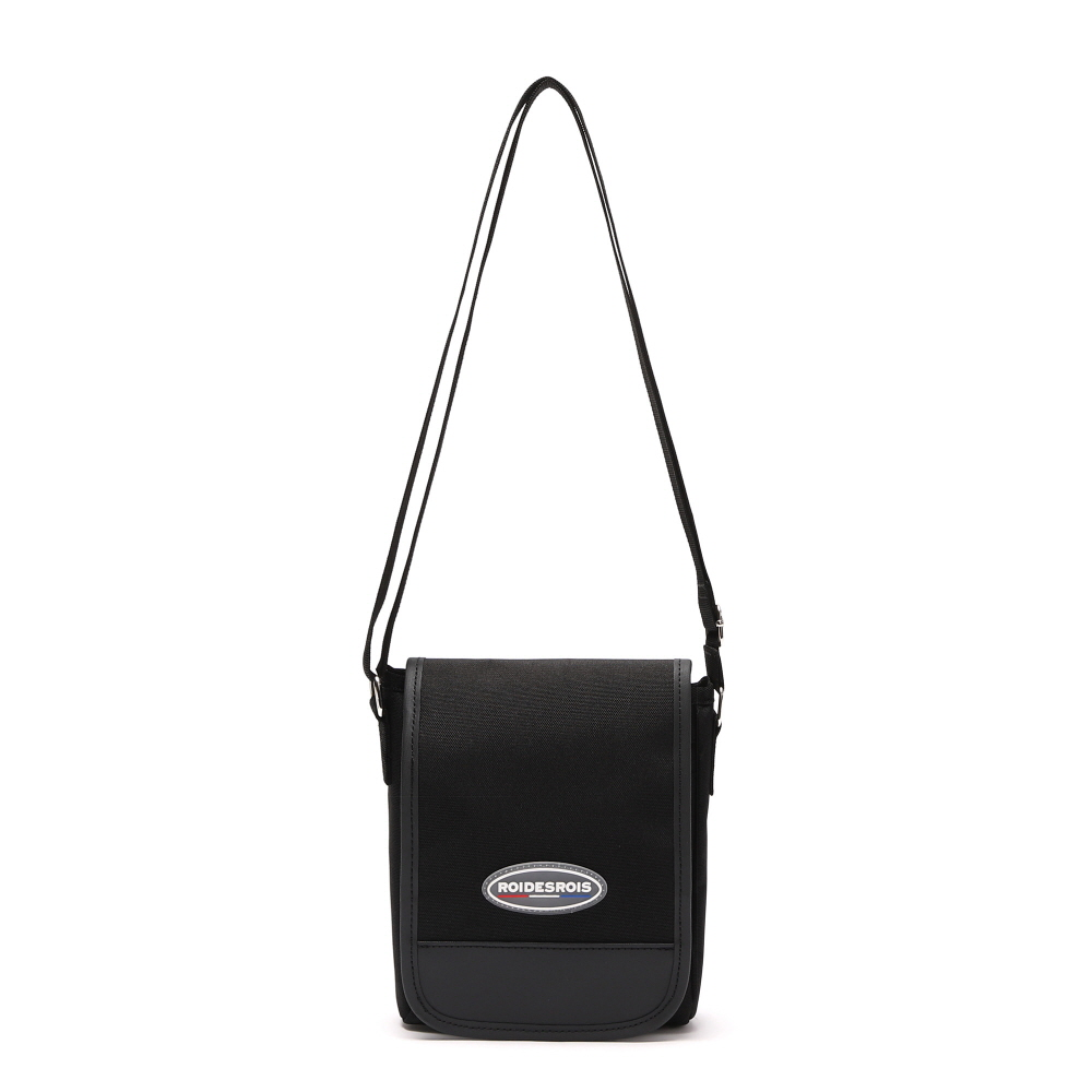 [#아울렛 한정_특가상품]R RUBBER LABEL MINI CROSS BAG (BLACK)