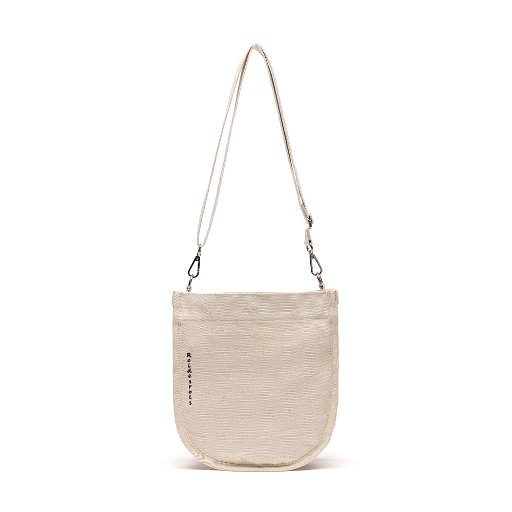 [#아울렛 한정_특가상품]HALF MOON MINI CROSS BAG (IVORY)