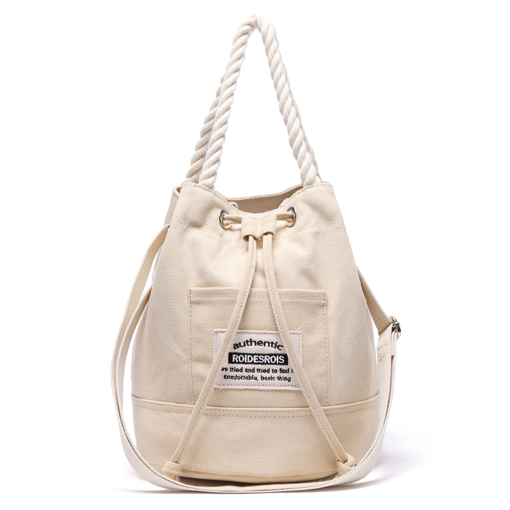 [#아울렛 한정_특가상품]ROPE COTTON BUCKET CROSS BAG (BEIGE)