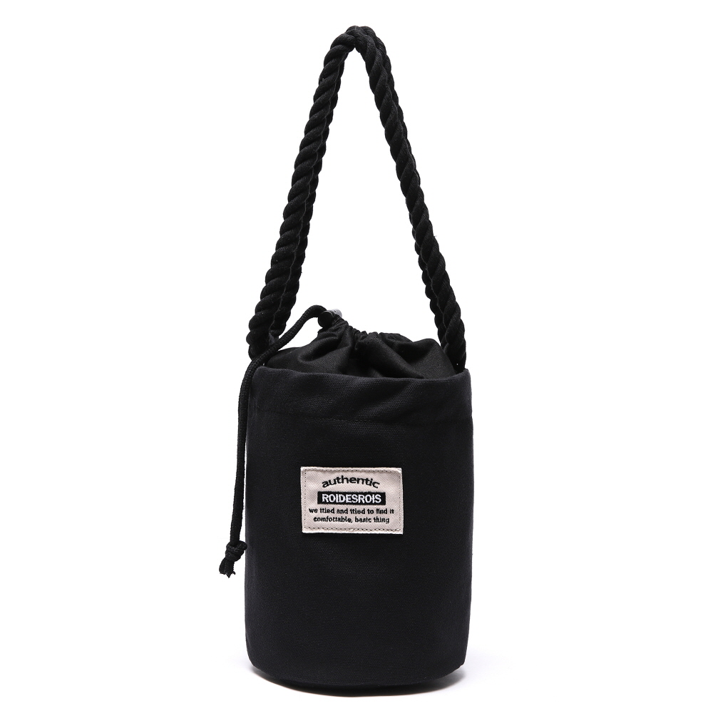 [#아울렛 한정_특가상품]ROPE COTTON SHOULDER BAG (BLACK)